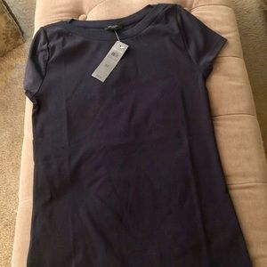 Navy blue short sleeve top from Ann Taylor